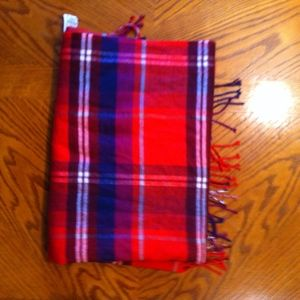 Old Navy Large Rectangular Flannel Plaid Scarf